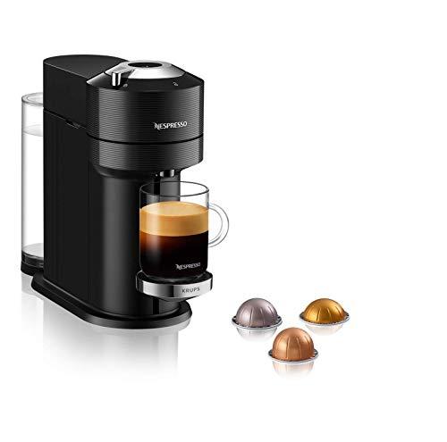 Krups XN9108 Nespresso Vertuo Next Premium Kaffeekapselmaschine   1,7 L Wassertank   Kapselerkennung durch Barcode   6 Tassengrößen   Power-Off Funktion   aus 54% recyceltem Kunststoff  Classic Black