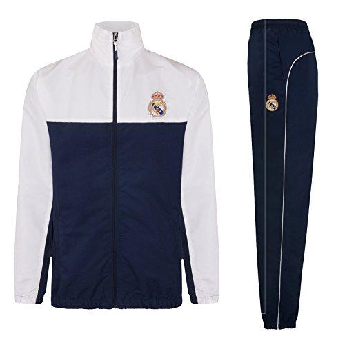 Real Madrid - Herren Trainingsanzug - Jacke & Hose - Offizielles Merchandise - Geschenk für Fußballfans - L