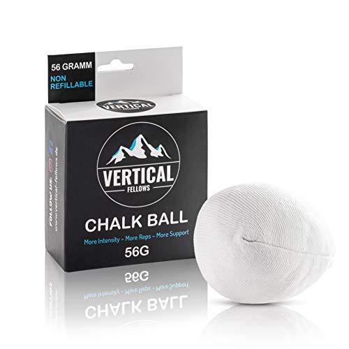VERTICAL FELLOWS Chalk Ball 56 Gramm Kreideball Magnesiaball - idealer Kreide & Magnesia Chalkball für Klettern Bouldern Turnen Gewichtheben Cross Fit Pole Dance