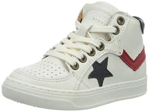 Bisgaard Isak Hohe Sneaker, Weiß (White/Red 1909), 30 EU