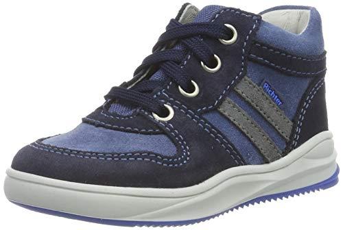 Richter Kinderschuhe Jungen Harry Hohe Sneaker, Blau (Atlantic/River/Ash 7204), 23 EU