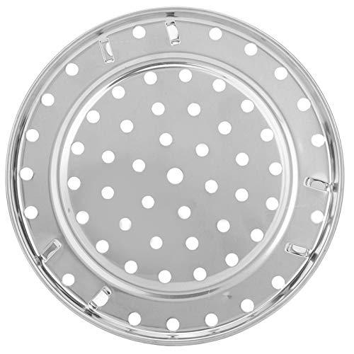 Exliy Runder Dampfbehälter Tablett Regal Edelstahl Dampfwanne Erhöhendes Halterungsdesign Kann schnell und gleichmäßig erwärmt Werden(Medium Diameter 24cm)