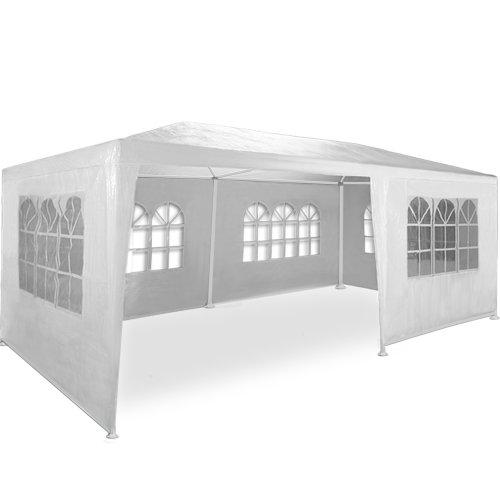 Kingsleeve Festzelt Rimini 3x6m UV-Schutz 18m² 6 Seitenteile Fenster wasserabweisend Pavillon Partyzelt Gartenzelt Festival Weiß