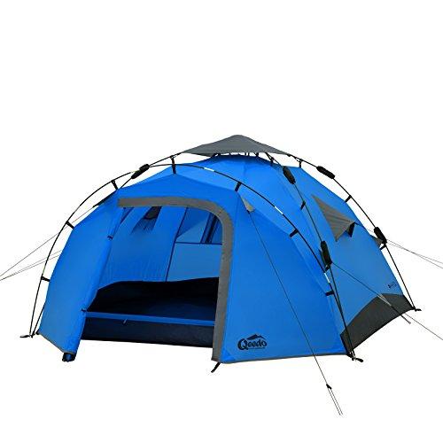 Sekundenzelt Qeedo Quick Pine 3, Campingzelt - blau