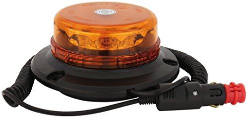 AdLuminis LED Rundumleuchte orange Verschiedene Ausführungen, für 12V und 24V Spannung, Blinkleuchte Warnleuchte für Straßenverkehr KFZ (a - Micro mit Magnetfuß)
