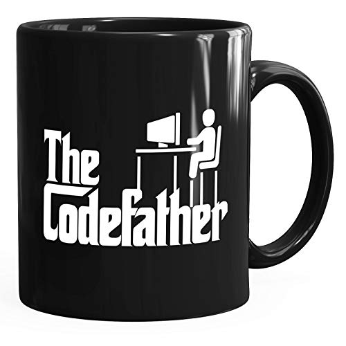 MoonWorks® Kaffee-Tasse The Codefather Programmierer IT Informatiker Coder Geschenk-Tasse schwarz unisize
