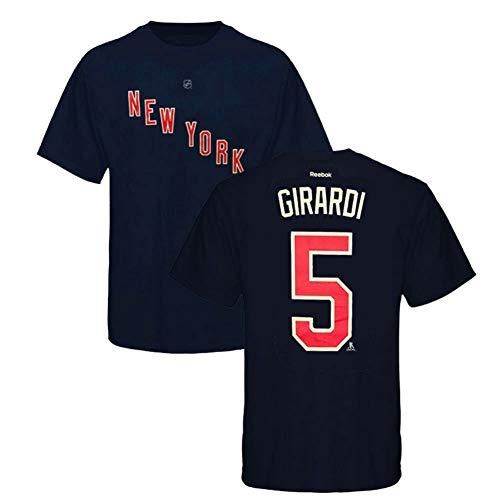 Reebok NHL T-Shirt New York Rangers Dan Girardi #5 Navy Player Eishockey (L)