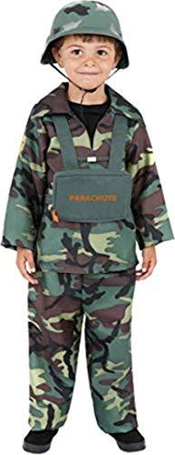 Smiffys Kinder Soldaten Kostüm für Jungen, Oberteil, Hose und Rucksack, Größe: M, 38662