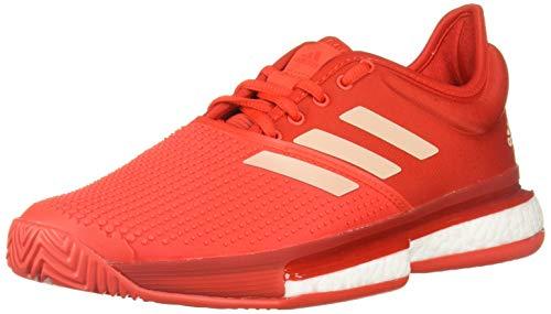 adidas Damen Solecourt Boost Tennisschuh, Rot (Active Red/Soft Powder/Scarlet), 37 EU