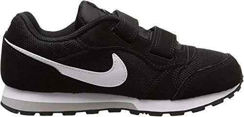 Nike Jungen Md Runner 2 (Psv) Low-Top, Schwarz (Black/White-Wolf Grey), 32 EU