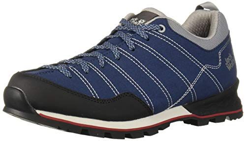 Jack Wolfskin Herren Scrambler Low M Walking-Schuh, Blue/Black, 41 EU