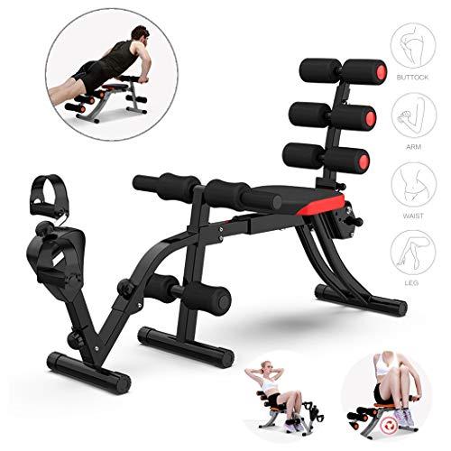 NTWXY Bauchmuskeltrainer Gerat Kompakter Allround-Trainer Trainingsbank Fitness Ausrüstung Ausgestattet Mit Abnehmbaren Pedalen