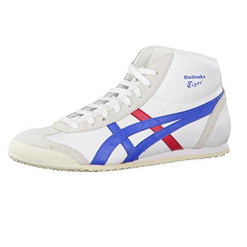 Onitsuka Tiger Unisex-Erwachsene Mexico Mid Runner Hohe Sneaker, Mehrfarbig (White/Daphne 0143), 39 EU