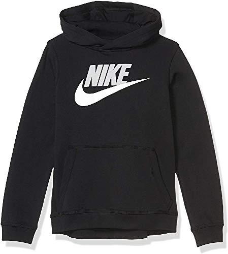 Nike Jungen Sportswear Club Fleece Pullover Hoodie, Black/Light Smoke Grey, S