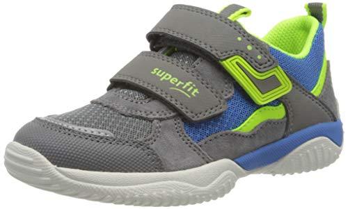 Superfit Jungen STORM Sneaker, Grau (Hellgrau/Gelb 25), 34 EU