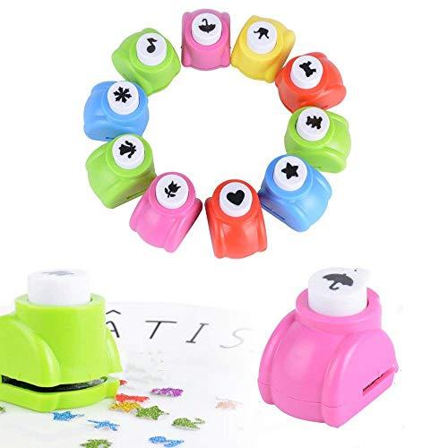 MUCHEN SHOP Motivstanzer,12 Pack Mini Motivlocher Kinder Papier Craft Punch Papierstanzer Set für Bastelarbeiten,Grußkarten,Fotoalben, Tischkarten,Scrapbooking