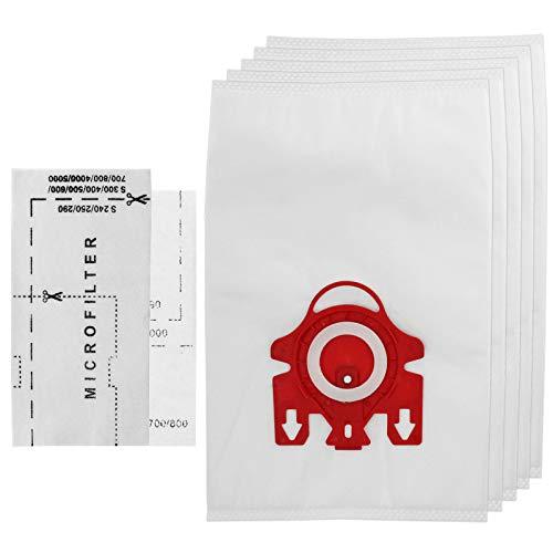 SPARES2GO Staubsaugerbeutel 3D Typ FJM Hyclean für Miele-Staubsauger der Serie S200 S241 256i S290 S299 (5 Staubbeutel + Mikro-Luftfilter)
