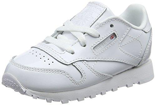 Reebok Unisex Baby Classic Leather Patent Sneaker, Weiß (White 0), 22.5 EU