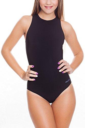 Aqua Speed Blanka Damen Badeanzug, Schwarz, 38