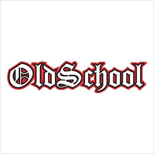 easydruck24de Sticker Oldschool XL schwarz rot I kfz_391 I 20 x 4 cm I Auto-Aufkleber Fahrrad-Aufkleber Motorrad-Aufkleber Mofa Roller Notebook Laptop I wetterfest