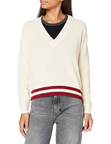 Pepe Jeans Damen Pullover Sweater Marietta, Ecru, Small