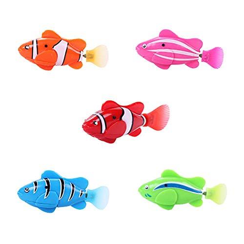 Ardorman 4PCS Batteriebetriebener Elektrischer Schwimmender Fisch, Wasseraktivierter Roboterschwimmen-Haustier-Fisch-Kind-Kind-Badespielzeug-Geschenk