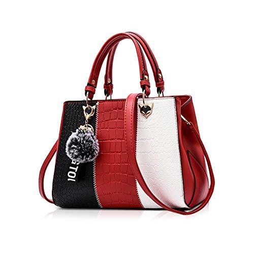 NICOLE & DORIS 2020 Neue Welle Paket Kuriertasche Damen weiblichen Beutel Handtaschen für Frauen Handtasche Weinrot