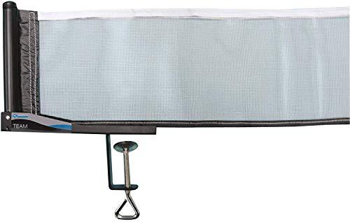 Donic-Schildkröt Tischtennisnetz Team, klappbare Netzgarnitur mit Nylonnetz und Spannschnur für max. Plattenstärke 6,0 cm, 808311