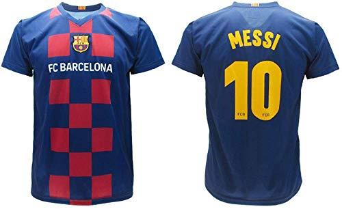 Trikot Messi 2020 Barcelona offizielles Home 2019 2020 in Blisterverpackung Trikot Barcelona 10 Kinder Erwachsene, blau, 4 Years
