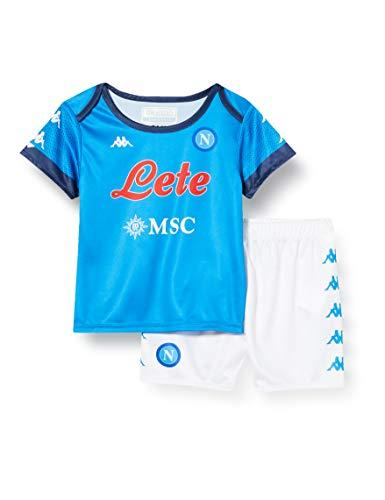 SSC NAPOLI 2020/21 Gara-Set für Baby Home 2020/21, Unisex – Kinder, Unisex Kinder, 31129FWCNAA21, Azzurro - Blu, 6 Monate