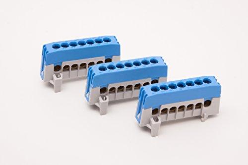 Pollmann 2020266 blau POLL Nullleiterklemme N7-F2 fingersicher