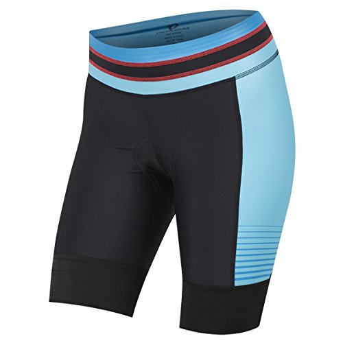 PEARL IZUMI Women's Elite Pursuit Shorts, Black/Atomic Blue Diffuse, XX-Large