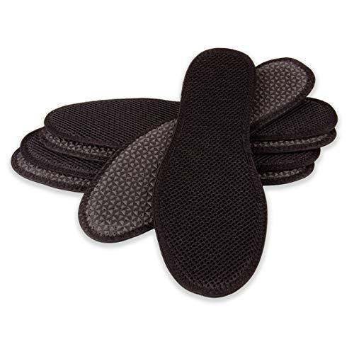 biped 3 Paar Aktivkohle Sohlen - zur Klimaregulierung, für hygienisch frische Schuhe und Füße z1017(42)
