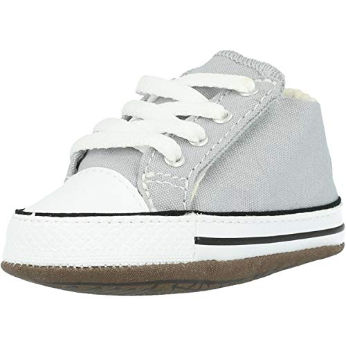 Converse Baby Chucks Grau Chuck Taylor All Star Wolf Grey Natural Ivory White, Groesse:18