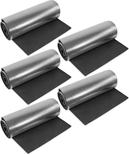 normani 1, 2, 3 oder 5 Ultraleichte Isomatten mit Aluminiumbeschichtung/Alu-Thermomatte Isomatte Farbe Schwarz / 5 Stück
