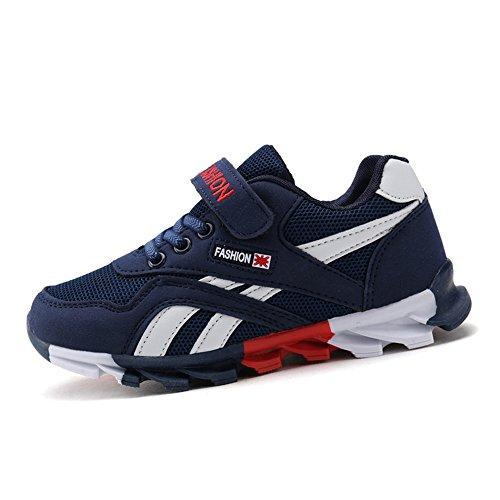 DUORO Kinder Sportschuhe Sneaker Jungen Mädchen Outdoor Atmungsaktive Turnschuhe Running Schuhe Straßenlaufschuhe (34 EU, Dunkelblau)