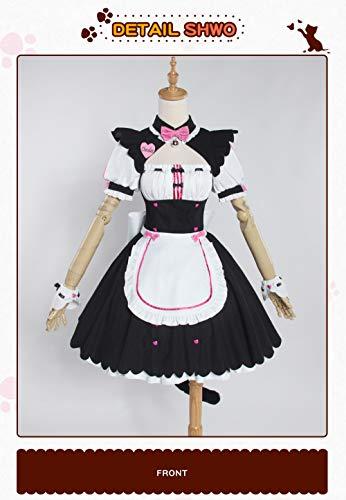 UWOWO Chocola NEKOPARA Cosplay Chocola Vanille Maid Kleid Kostüm Katze Neko Girl NEKOPARA Cosplay Damenkostüm Spiel L
