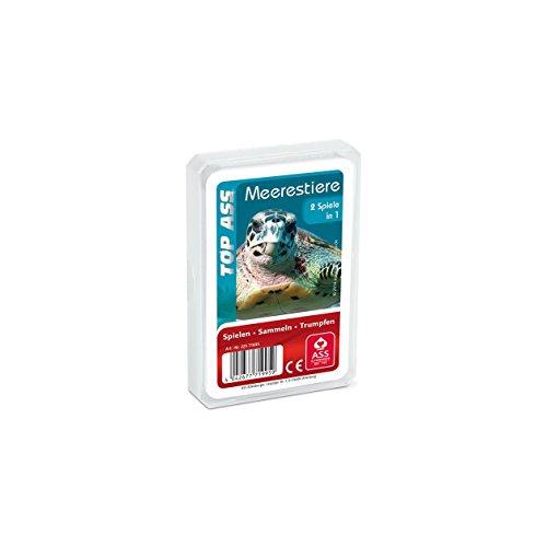 ASS Altenburger 22571995 -Top Ass Meerestiere, Kartenspiel - Trumpf und Quartett