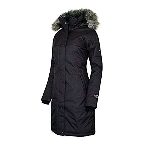 COLUMBIA Women's Flurry Run Down Long Omni Heat Jacket Coat Hooded Parka (XL)