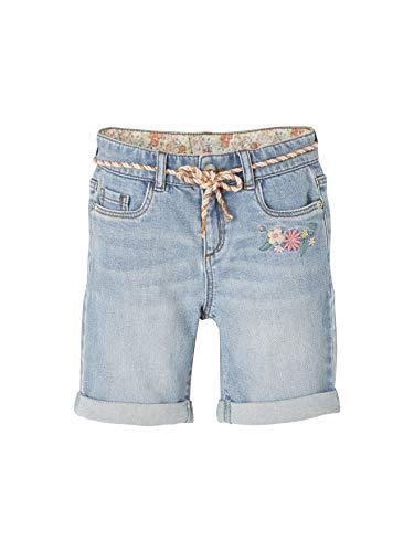 Vertbaudet Mädchen Jeans-Shorts, Bestickt Double Stone 146/152
