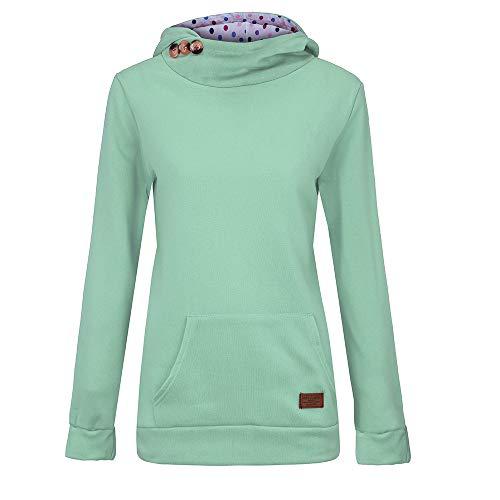 TOPKEAL Hoodie Pullover Damen Herbst Winter Kapuzenpullover Reine Farbtasche Sweatshirt Winterpullover Lässige Jacke Mantel Tops Mode 2019 …