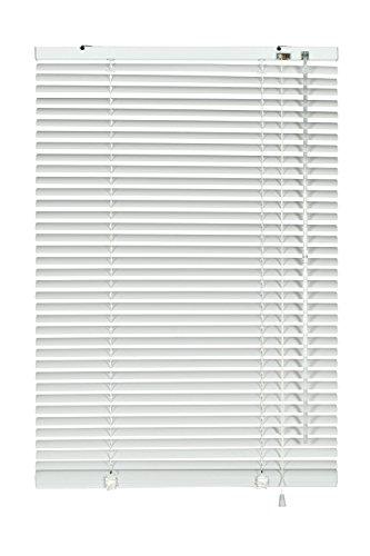 GARDINIA Alu-Jalousie, Sicht-, Licht- und Blendschutz, Wand- und Deckenmontage, Alle Montage-Teile inklusive, Aluminium-Jalousie, Weiß, 100 x 240 cm (BxH)