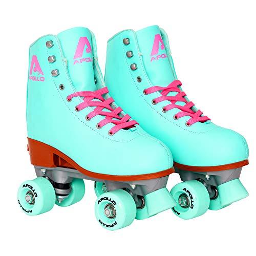 Apollo Classic-Roller, Discoroller, Rollschuhe für Kinder, Jugendliche und Erwachsene, größenverstellbare Quad-Skates, 3 Größen, verstellbar von 31 bis 42, Rollerskates