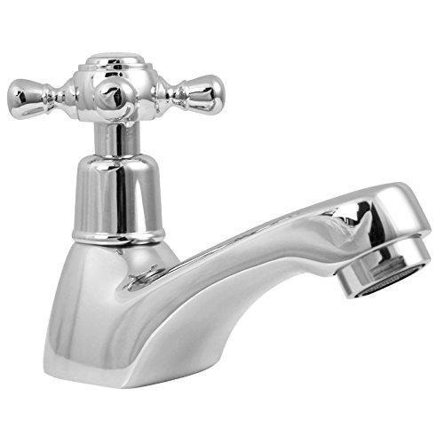 Welfenstein Nostalgie Kaltwasser Armatur KW-4T3 Wasserhahn mit Kreuzgriff für Gäste-WC, Retro