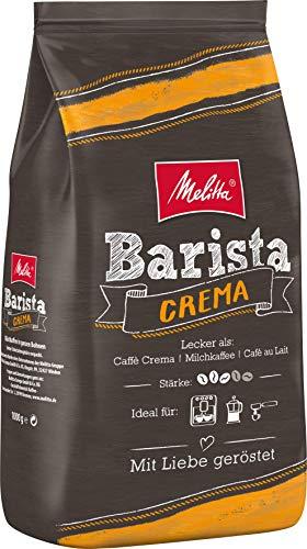 Melitta Ganze Kaffeebohnen, ausgewogen und harmonisch, Stärke 3, Barista Crema, 1kg