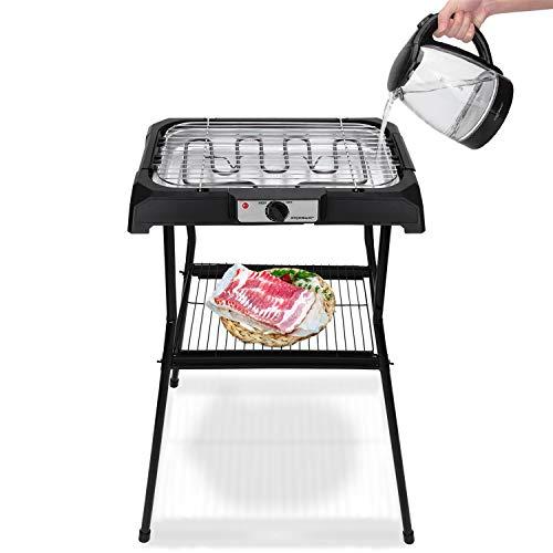 Tischgrill Standgrill 2000W, Barbecue-Standgrill, Grillfläche: 50cm x 34.5cm, schwarz