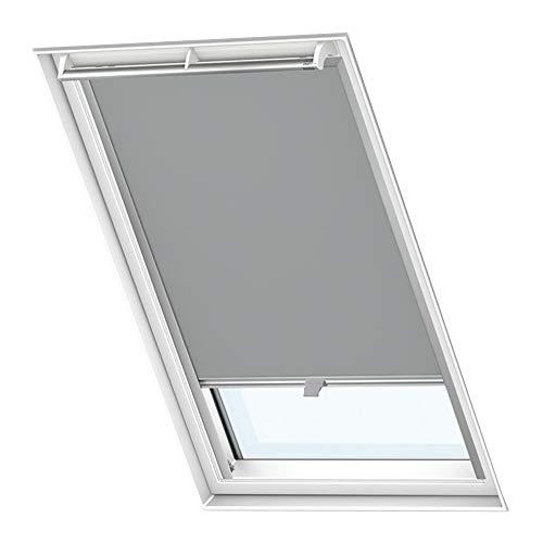 LZQ Dachfenster Verdunkelungsrollo Grau Thermo Sonnenschutz für Velux Fenstersysteme Dachfenster Verschiedene Größen Fenstertypen : GGL, GPL, GHL, GTL, GXL (M06/306, Grau)