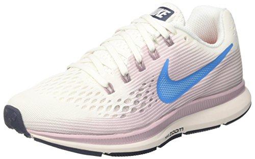 Nike Damen Air Zoom Pegasus 34 Laufschuhe, Mehrfarbig (Summit White/Equator 105), 40.5 EU