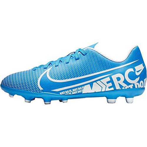 Nike Unisex-Kinder Vapor 13 Club Fg/Mg Fußballschuhe, Mehrfarbig (Blue Hero/White/Obsidian 414), 32 EU