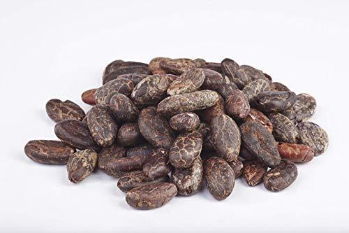 Bio ganze rohe Kakaobohnen geschält 1 kg Kakao Cacao Cocoa Bohnen Rohkost ganze Nibs Fairtrade 1 kg Packung